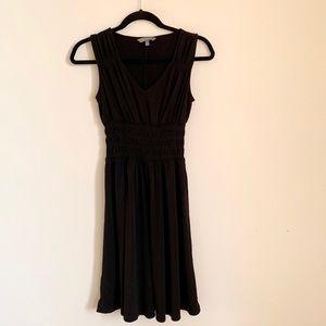 Black jersey Grecian inspired dress